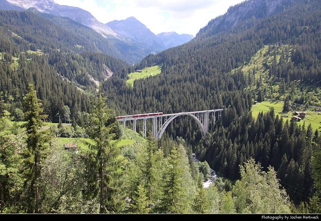 Langwieser Viadukt, Graubünden, Switzerland