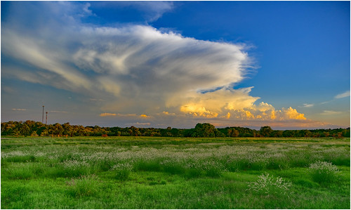 Sunset lights up a developing storm front over Darwin Rural Area, as seen from Casuarina Coastal Reserve, NT, Australia - Part 3