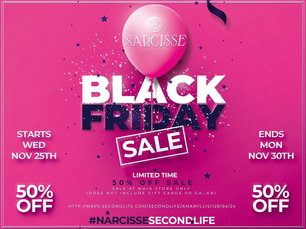 Narcisse Black Pink Friday Sale!