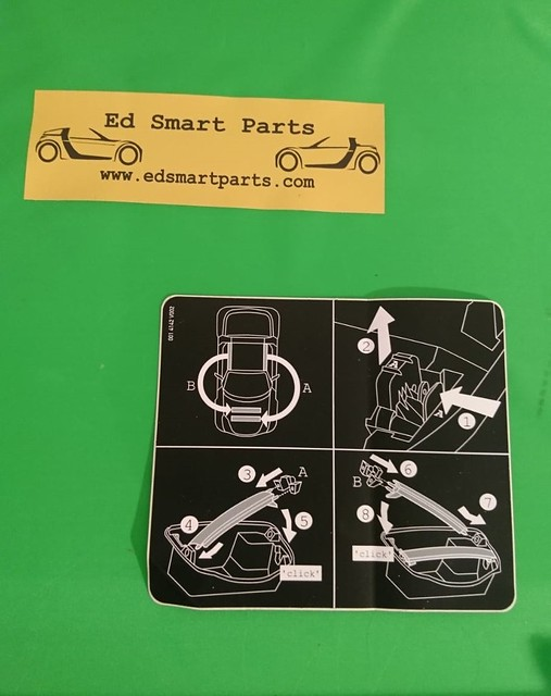 Instruction sticker roofbar storage smart roadster (coupe)  452