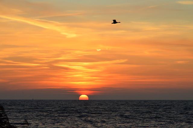 Sunrise at the Markermeer near Bovenkarspel, Netherlands.