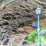Under the rail bridge at Miller Park, Preston