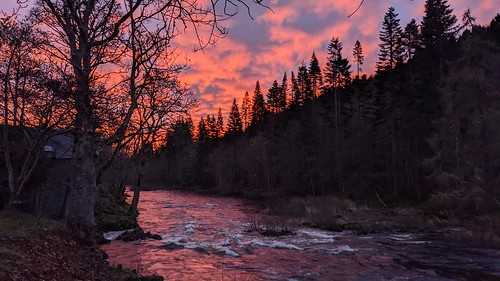 sunset sunrise rivertweed scottishborders