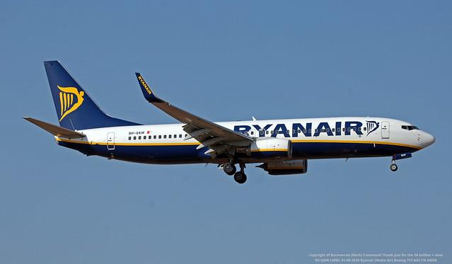 9H-QAW LMML 01-08-2020 Ryanair (Malta Air) Boeing 737-8AS CN 44698