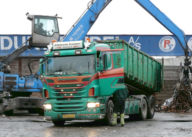 2008 Scania R500 v8 XS90412 tipper hauls scrap metal