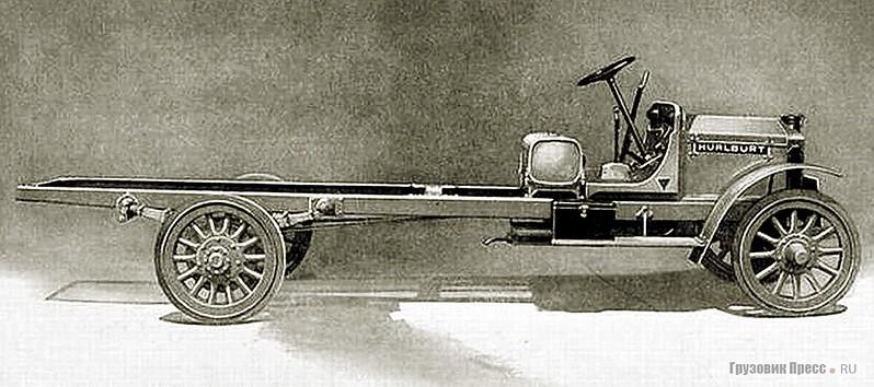 Шасси американского 3-тонного грузовика Hurlburt 35 HP, 1916 г.