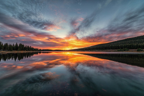 sunrise dawn daybreak brainardlake colorado reflections clouds landscape landscapes