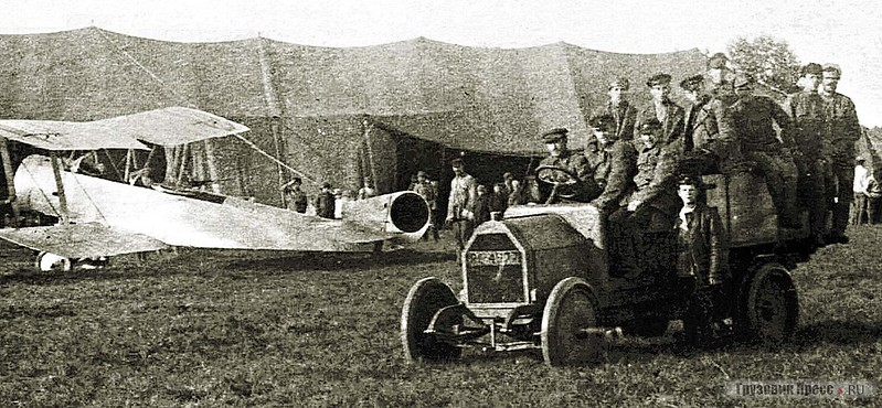 Полуторатонный грузовик FIAT 15-Ter, собранный на заводе АМО, модель 1916 г. Авиация РККА, 1919 г.