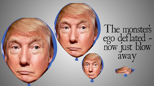 The Trump ego balloon deflating