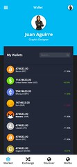 Cypto Currency Based Android App UI Design