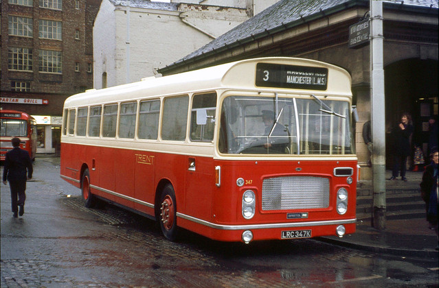 Trent Motor Traction . 347 LRC347K . Stockport Bus Station , Cheshire . Sunday 02nd-April-1972