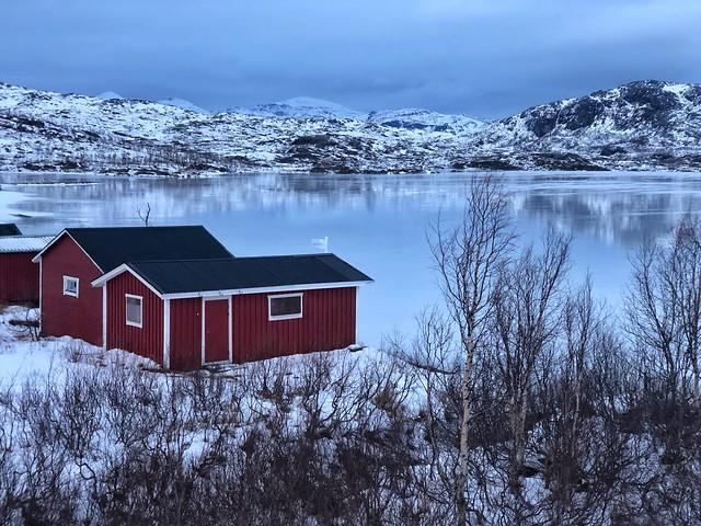 Cabañas de madera (stugor) en Riksgränsen (Laponia sueca)
