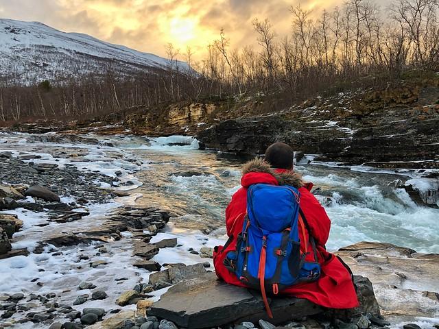 Sele en el cañón de Abisko (Laponia sueca)