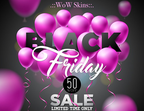 50% OFF STORE WIDE SALE FOR BLACK FRIDAY