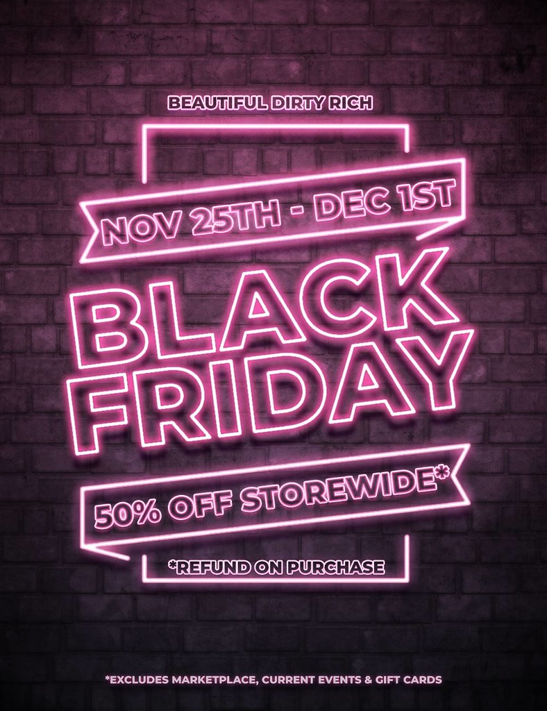 *B.D.R.* Black Friday Sale!
