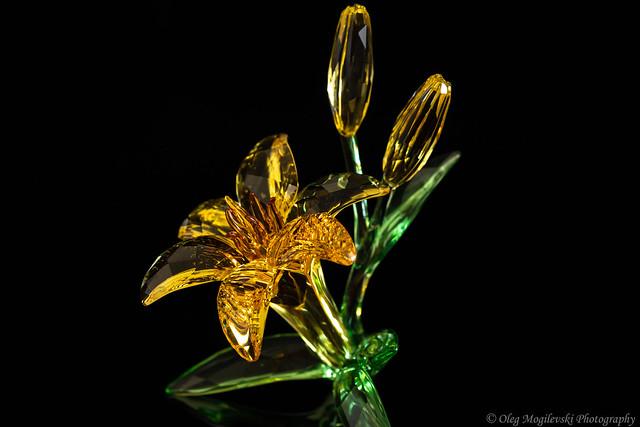Swarovski Crystal Lily Flower