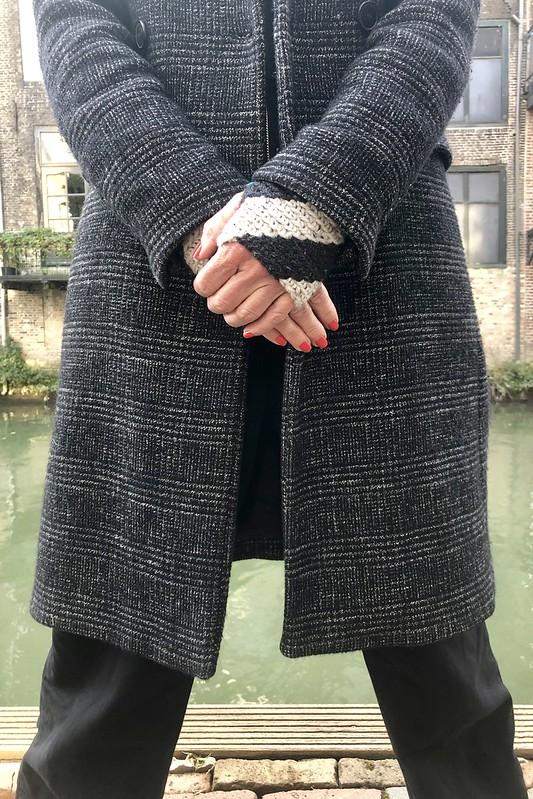 handmade fingerless mittens