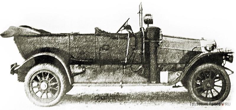Штабной автомобиль «Пузырёв А 28/40». Испытательный пробег Военного ведомства, 1912 г.