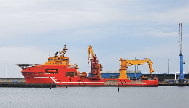 Offshore Support Vesse 'Viking Neptun' at Cambois Dock - Blyth