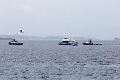 Afundamento do ferry Agenor Gordilho e rebocador 21.11.2020