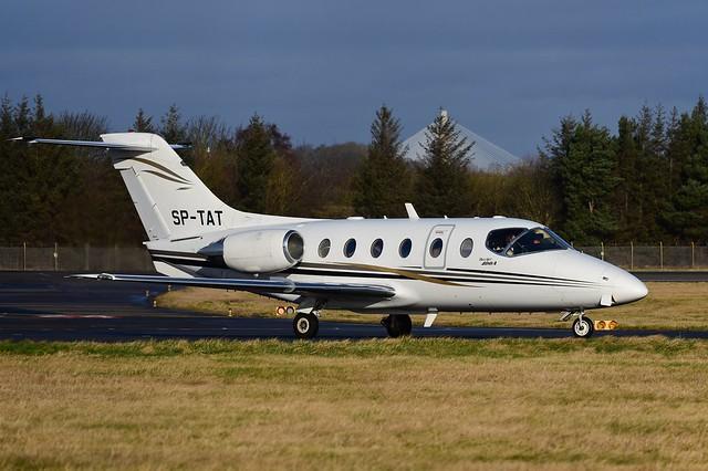 SP-TAT Beech 400A Beechjet EGPH 08-02-20