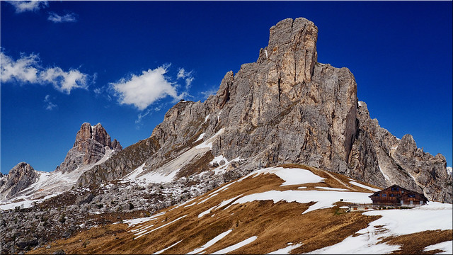 At the Passo di Giau in the Dolomites