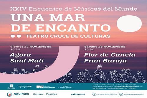 """Cartel promocional del XXIV Encuentro de Músicas del Mundo """"Una Mar de EnCanto"""""""