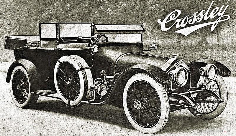 Английский автомобиль Crossley 20/25 HP – объект для подражания Казённого завода военных самоходов и фирмы «Лебедев»