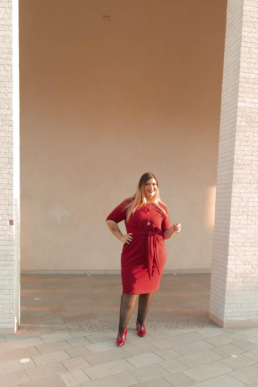 outfit monocromatico con abito byalis (7)