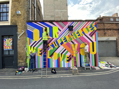 Morag Myerscough_studio wall