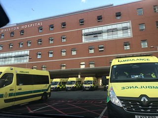 Very busy Whiston Hospital