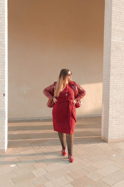 outfit monocromatico con abito byalis (10)