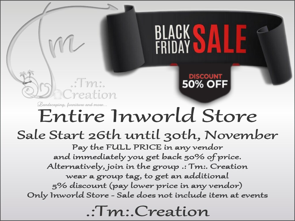 .:Tm:.Creation Black Friday Sales 50% Off