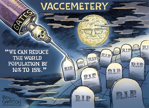 Bill Gates - Vaccine Cemetery