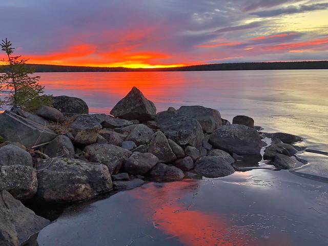 Amanecer en Laponia Sueca (Viaje a Laponia Sueca)