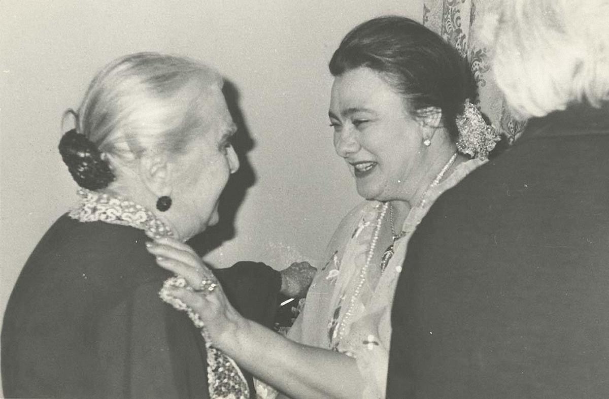 1980. Е. Гоголева и Г. Брежнева на приеме в Комитете советских женщин
