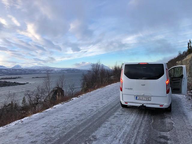 Vehículo de transporte por el que nos movimos en Laponia Sueca