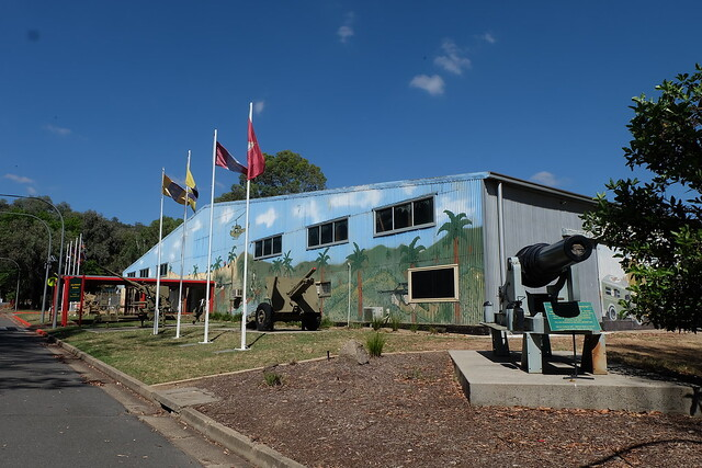 The historic shed that currently houses Australia's largest display of military vehicles at Bandiana, near Wodonga VIC (DSCF2736)