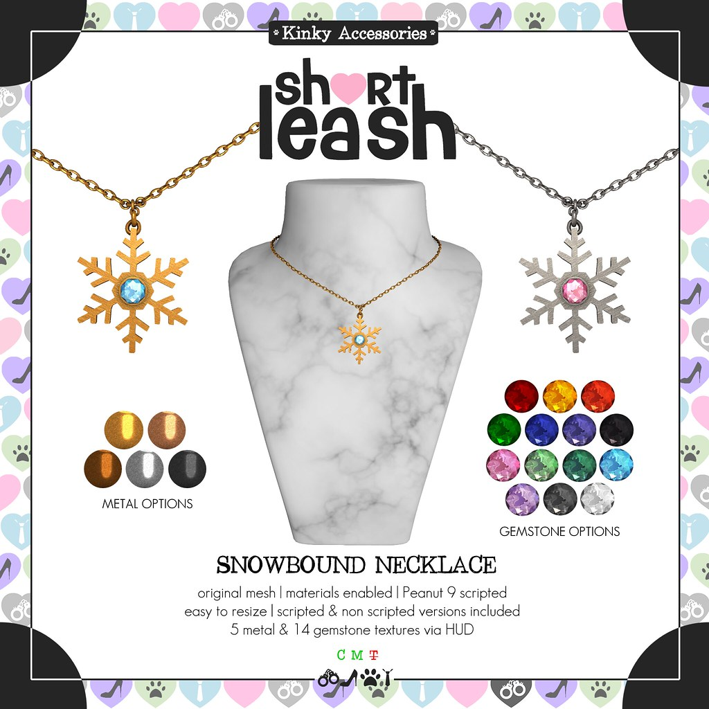 .:Short Leash:. Snowbound Necklace
