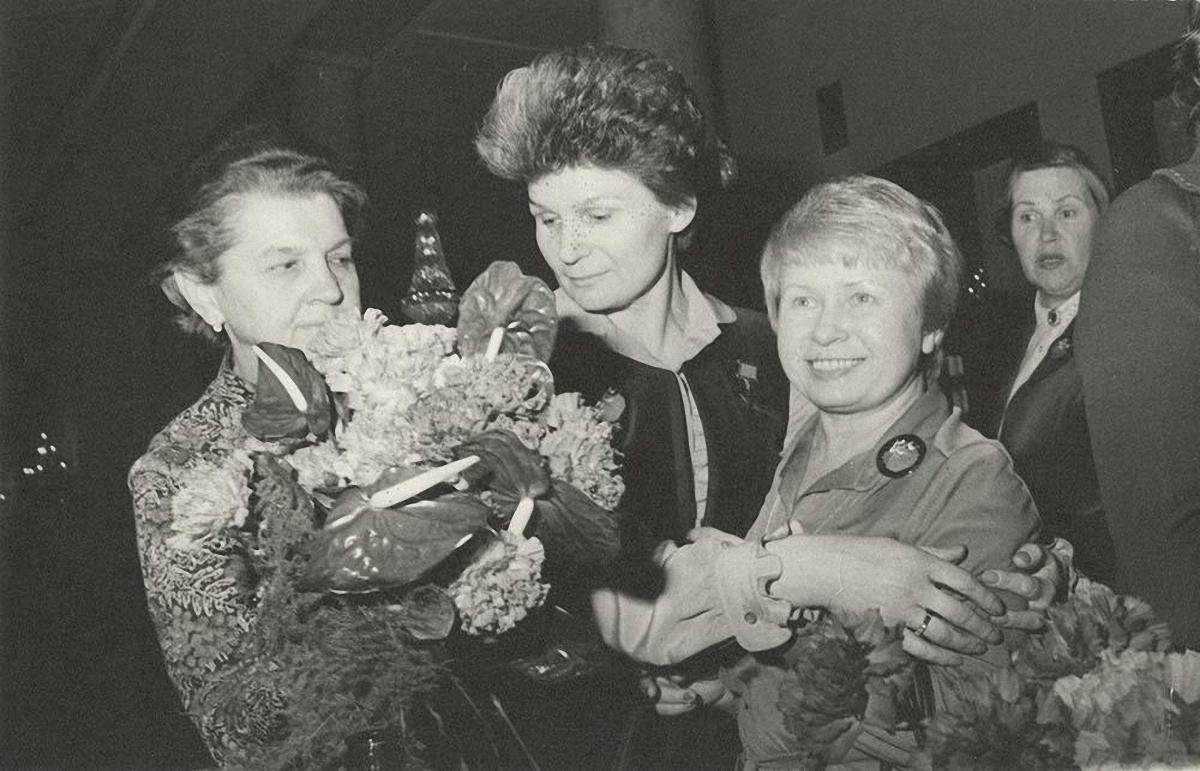 1980. На приеме в Комитете советских женщин.