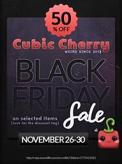 Cubic Cherry Black Friday Sale 2020