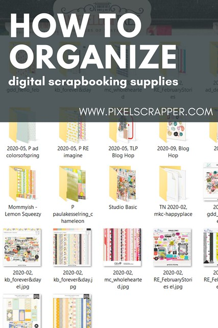 How To Organize Your Digital Scrapbooking Supplies