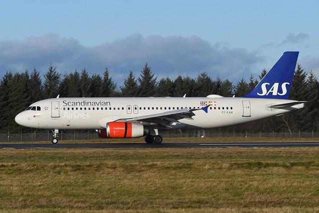 OY-KAW Airbus A320-232 EGPH 12-01-20