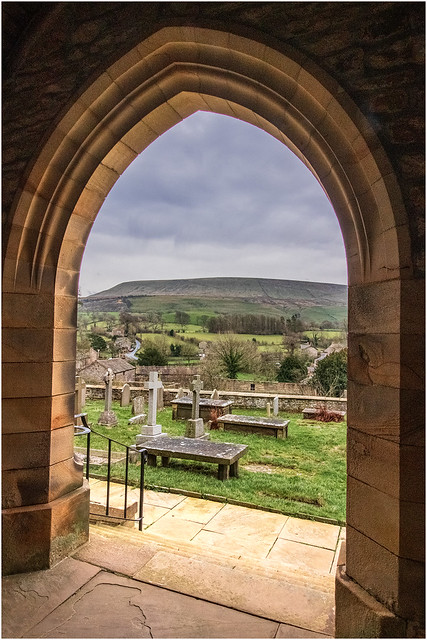 Pendle Hill View from St Leonard's Church