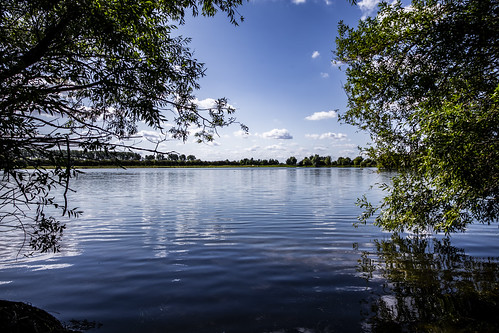 canon6d landscape lake water reflections trees sky blue cambridgeshire uk