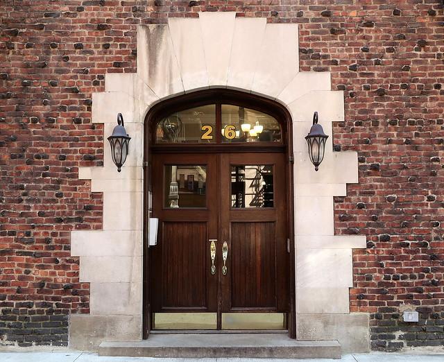 Front door, 26 Grove Street (1926), Greenwich Village, New York