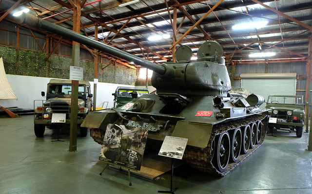 This genuine WWII Russian T-34-85 tank can be seen in pride of place at the Army Museum, Bandiana VIC