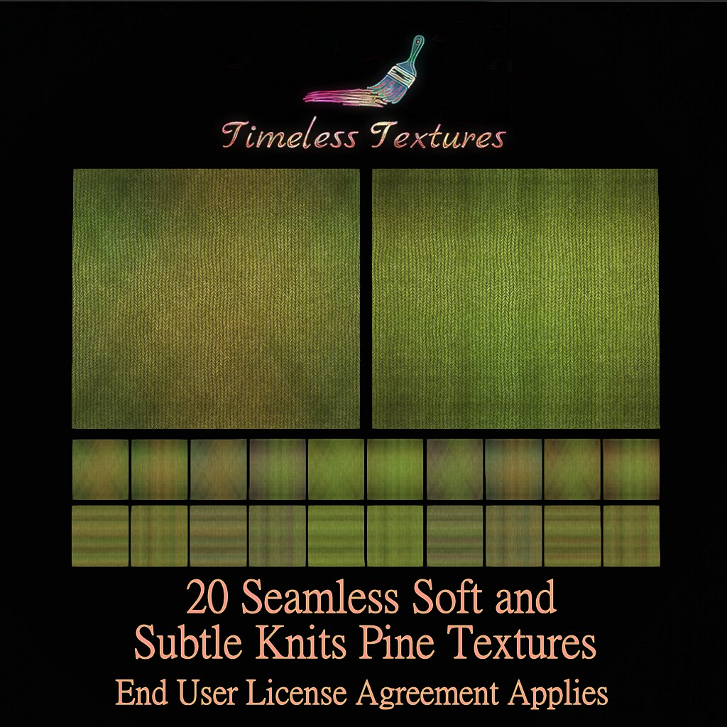 TT 20 Seamless Soft and Subtle Knits Pine Timeless Textures