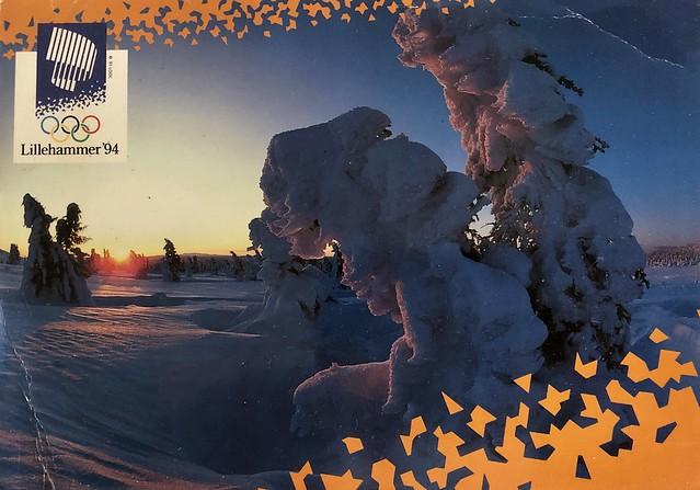 Lillehammer Olympics postcard