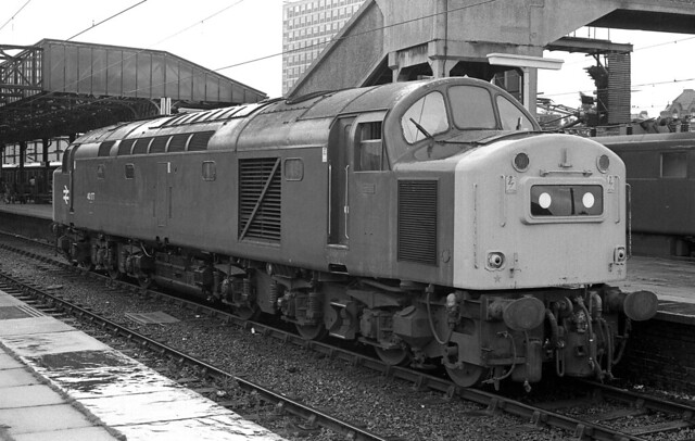 July in the rain at Crewe 1980.